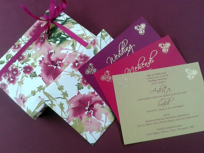 Credit: Classic Designer Wedding Cards & Stationary.