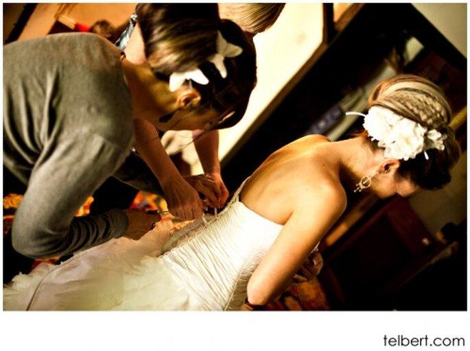 Tips para que la prueba de tu vestido de novia sea muy exitosa - Foto Telbert