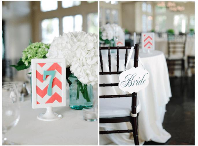 Detalles en coral para bodas en primavera 2014 - Foto Krista Jones Photography
