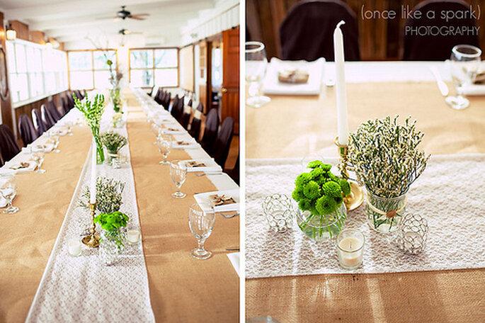 Donnez des petites touches rétro à votre décoration de mariage - Photo : Once like a Spark