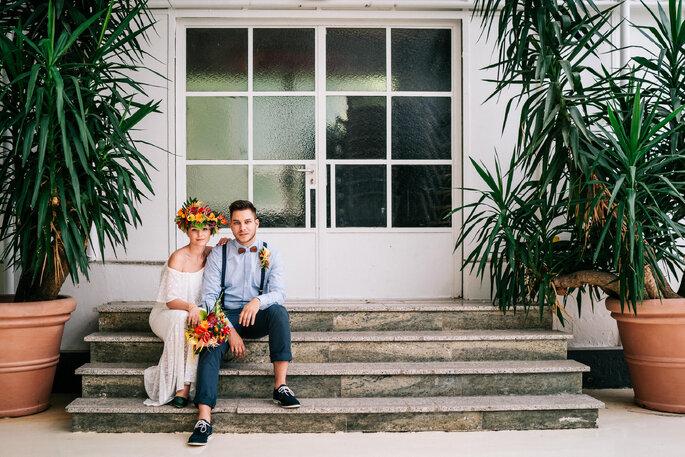 Hochzeitspaar Tropical Hochzeit Motto