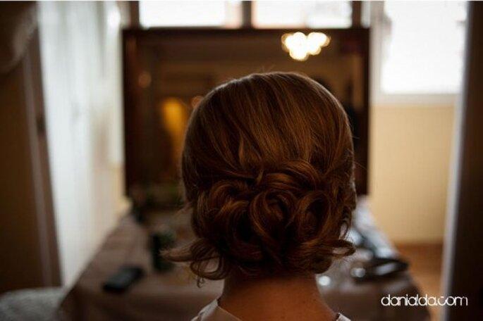 Peinados clásicos para novia. Foto de Dani Alda.