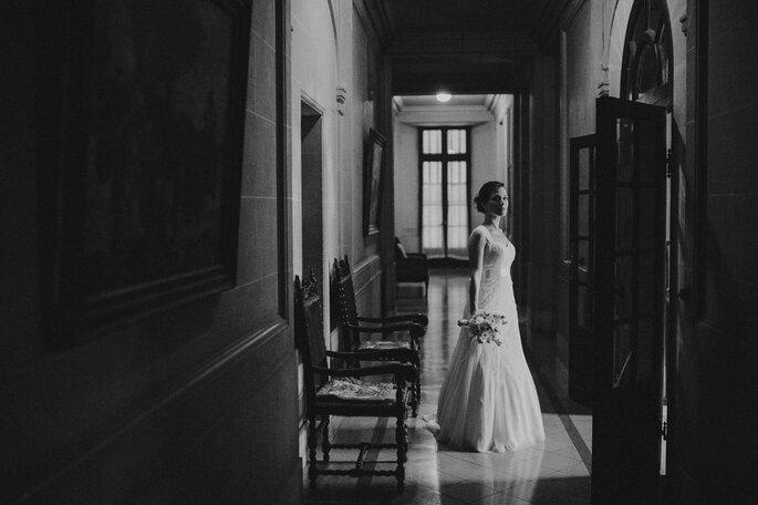 Virginia & Martín en su casamiento en el Palacio Sans Souci. Foto: Gus Hildebrandt