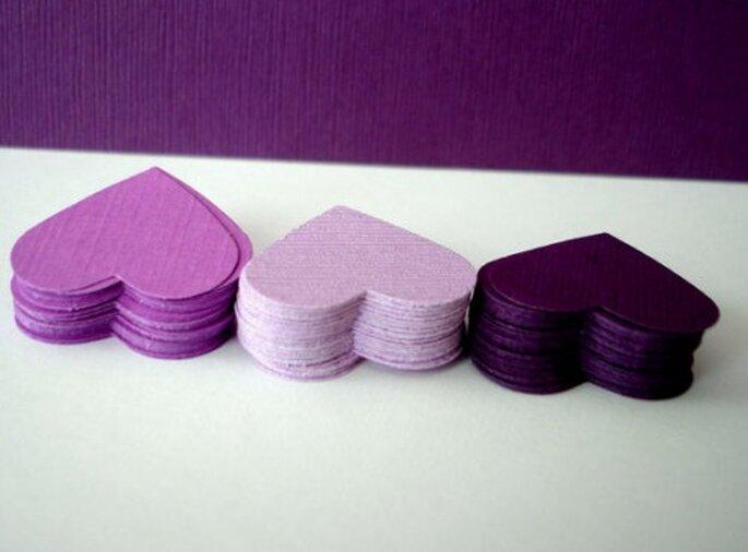 Confettis coeurs - Copyright Cartesdebelleville sur Etsy.com