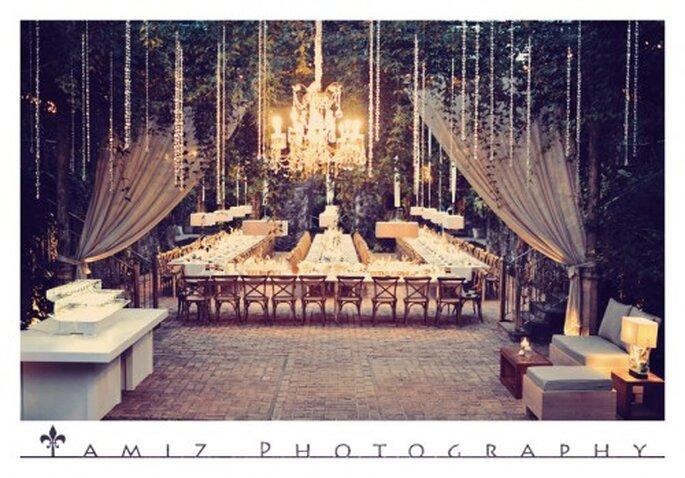 Decoración majestuosa y en tendencia para la decoración de boda - Foto Tamiz Photography