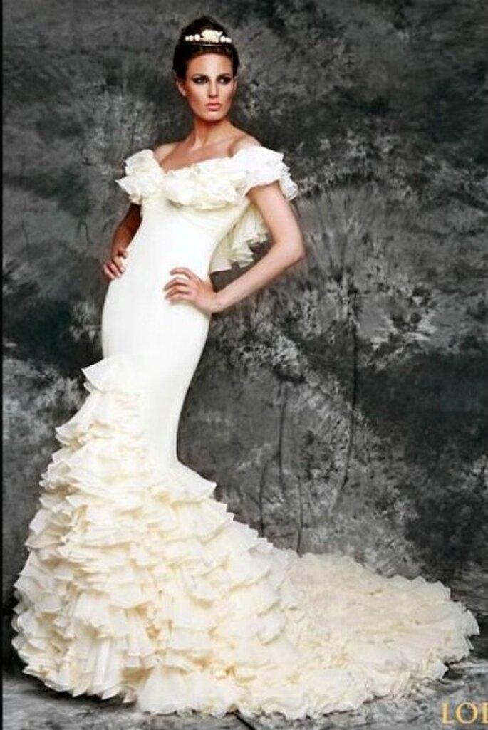 Vestido de novia de flamenca de la diseñadora andaluza -Foto: Vicky Martín Berrocal