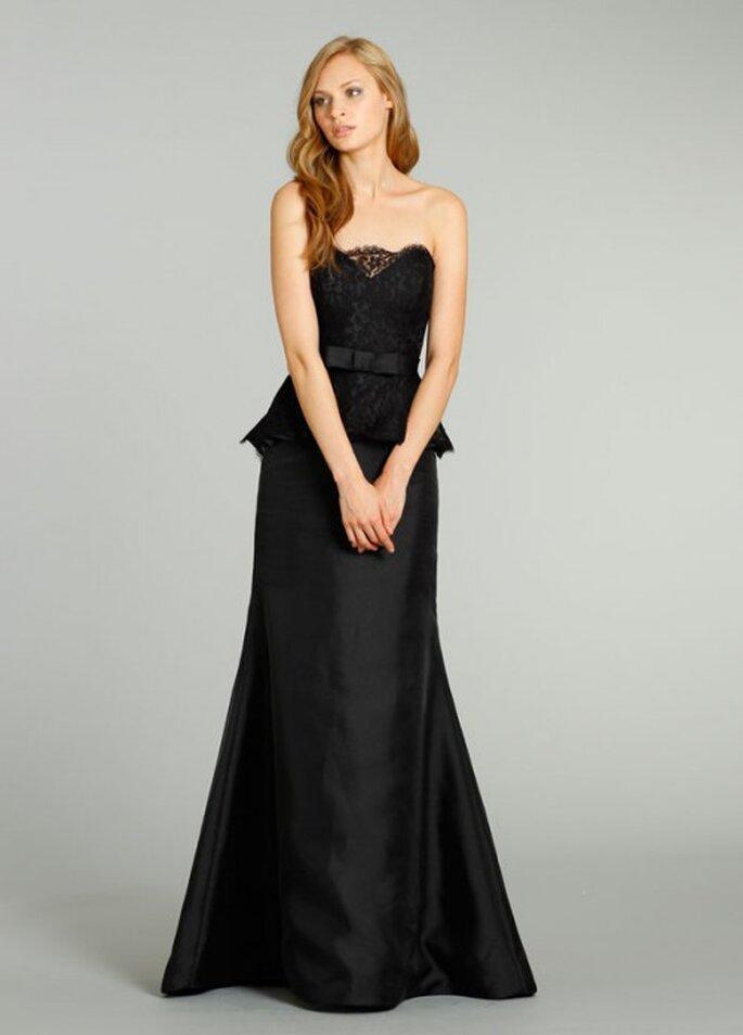 Vestido de gala peplum para damas de honor - Foto Noir by Lazaro