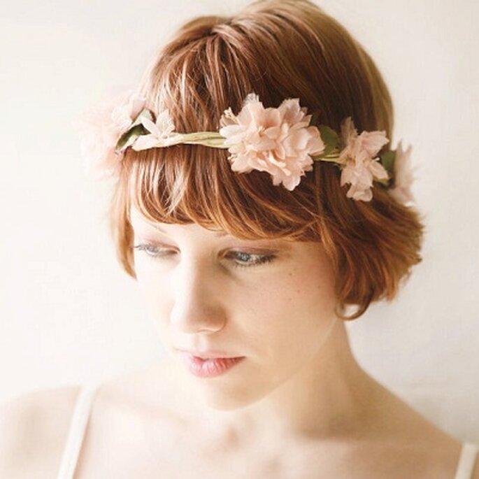 Corona de flores. Foto: wichgoose