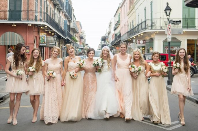 6 tips infalibles para elegir a tus damas de boda - Foto Catherine Guidry