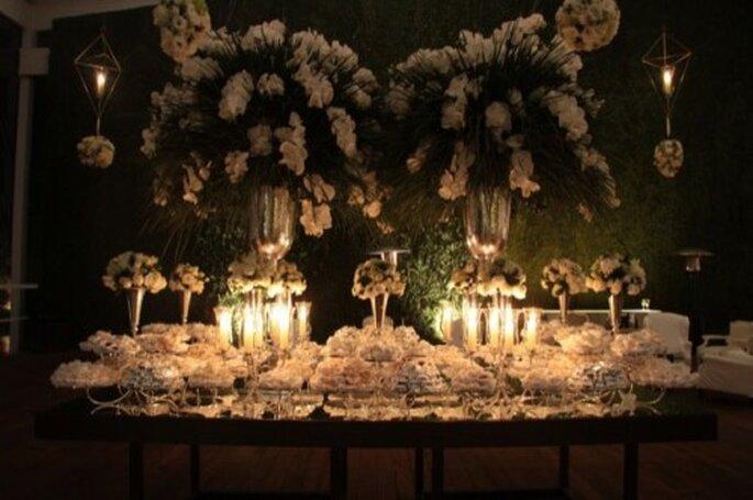 Punto focal para recibir invitados en una boda