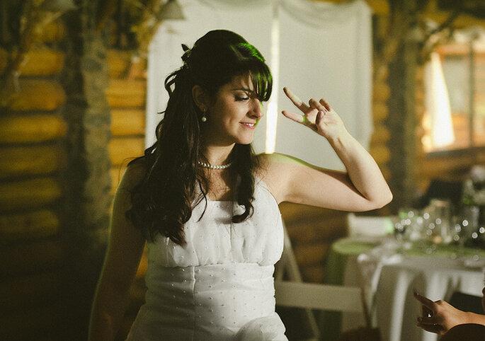 Un elegante collar de perlas para tu atuendo de novia. Foto: Los cipreses Argentina