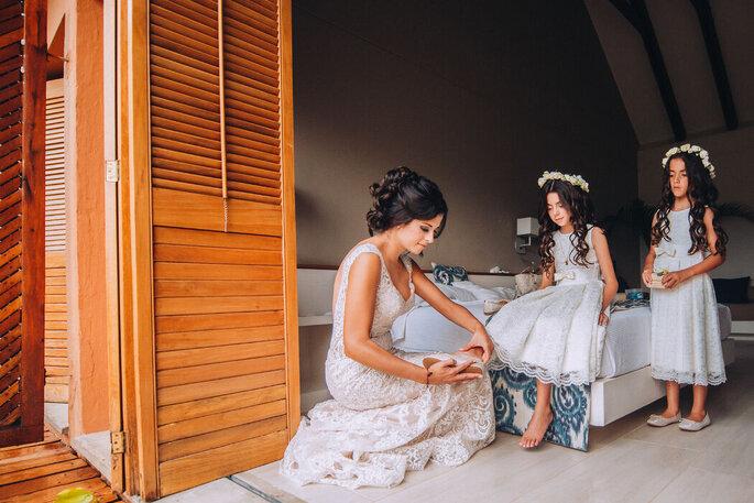 LUX STUDIO novia y pajecitas fotografía