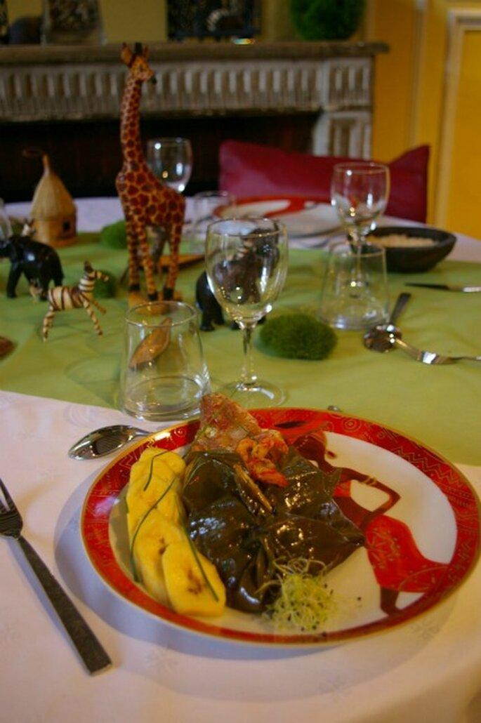 Le repas de mariage : un moment rêvé pour faire découvrir ses origines à ses invités. - Photo : Globe Traiteur