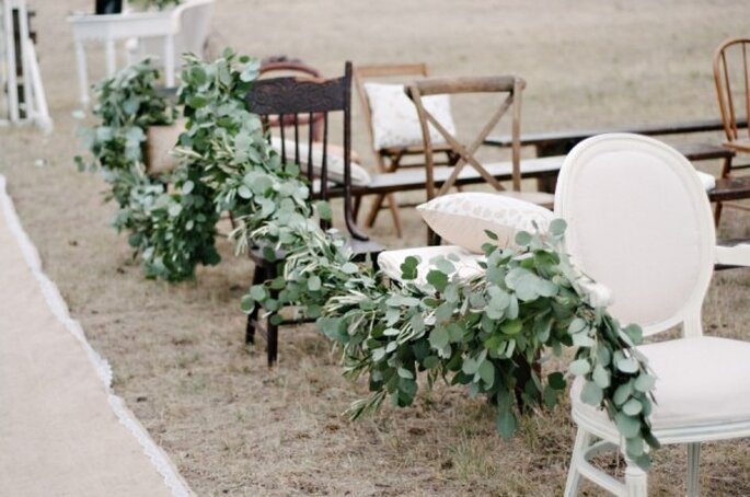 Mobiliario con diseños súper originales para decorar una boda - Foto Green Door Photography