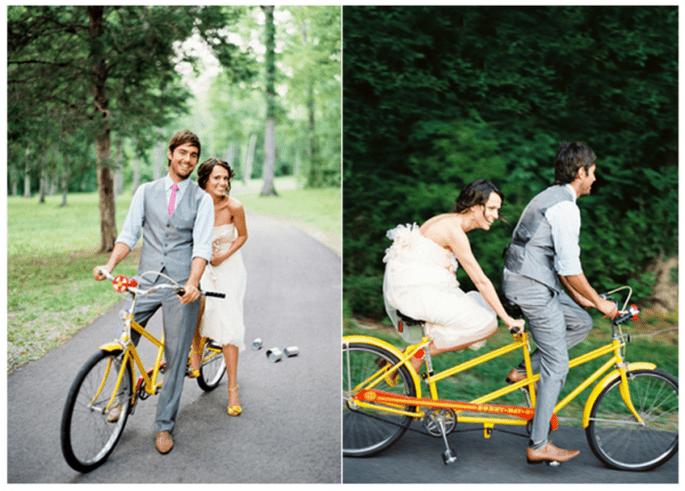 Decoración de una boda con bicicletas - Foto Jose Villa