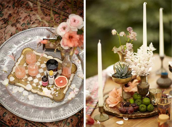Inspiración étnica para tu boda - Foto Scott Clark Photography