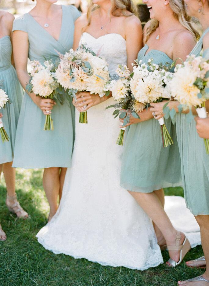 decoración de bodas en color menta - Josh Gruetzmacher Photography