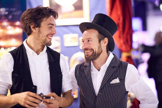 Andreas und Fabio von Herz-Feuer bei der Hochzeitsmesse Zürich
