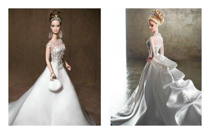 Due modelli di designer importanti come Bagdley Mishka a sinistra e Reem Acra a destra. Foto www.barbiecollector.com