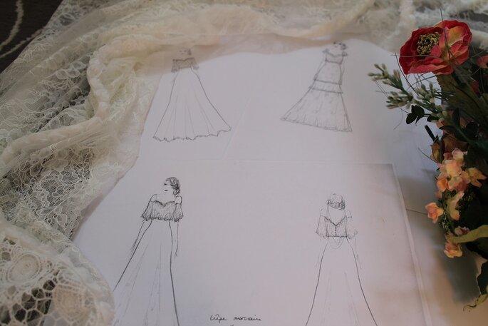 cbca34b6673ad9 Itinéraire d'une robe de mariée : La naissance d'une robe racontée ...