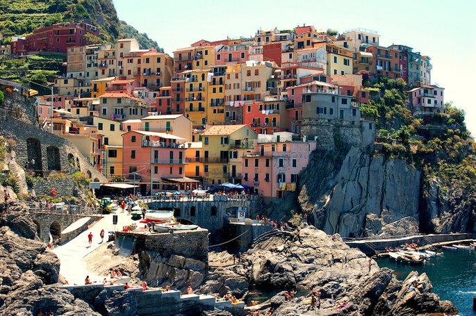 10 de las ciudades más románticas en Italia para tu luna de miel (Cinque Terre) - Brian Stacey en Flickr (CC)