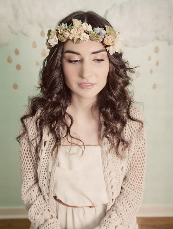 Corona di fiori vintage. Foto: Mignonne Handmade