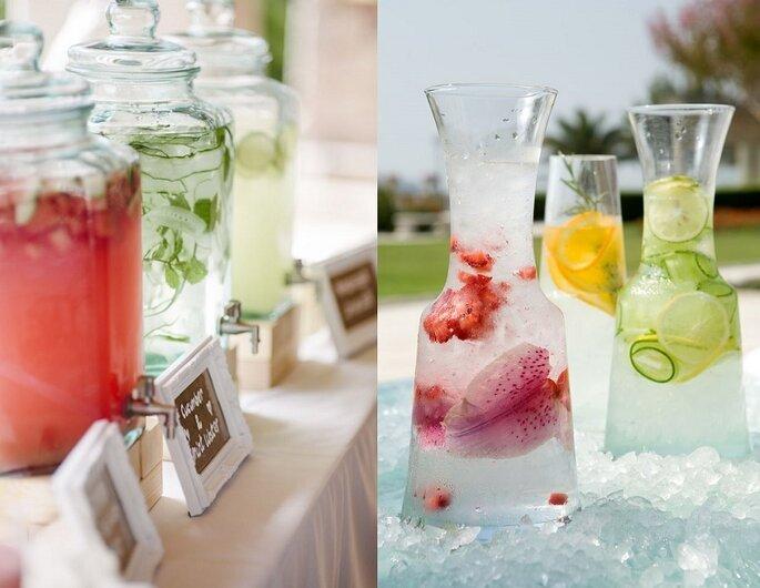 cocktails agua sabores tendencias bodas 2016