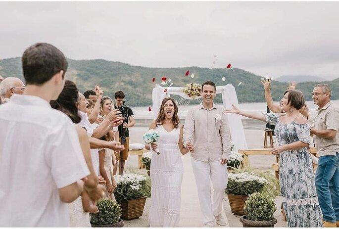 Mini wedding na praia