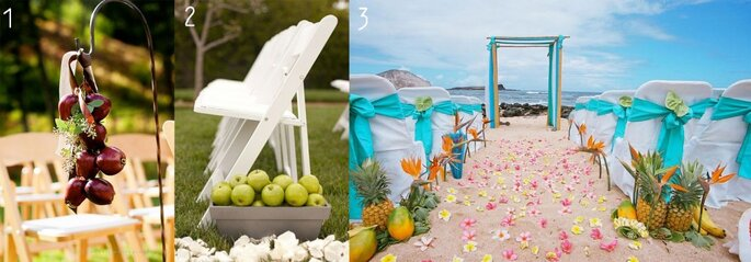 Credits: 1. LonemanPhotography, 2. Brides, 3. Alohaislandweddings