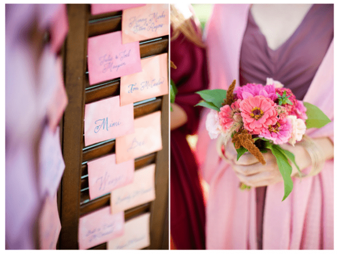 A watercolour inspired wedding - Photo: Justin and Mary