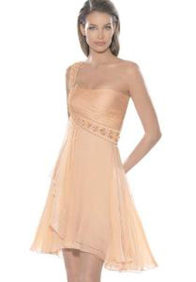 La Sposa 2009 - Vestido corto, corte imperio con un solo bretel