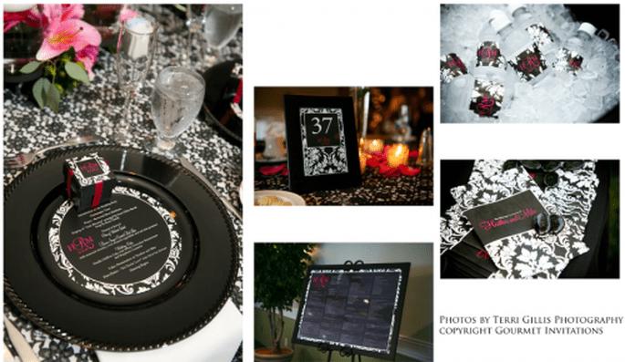 Ideas de la papelería que puedes usar para decorar tu boda. Foto Gourmet Invitations