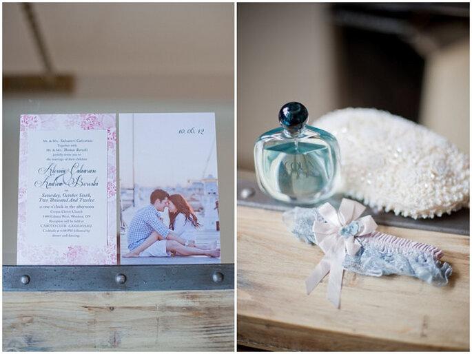 Algo azul para tu boda. Foto: Vicky Bartel Photography