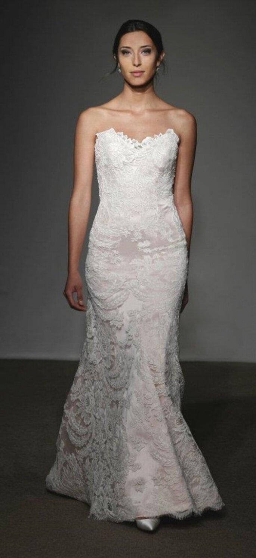 Vestido de novia strapless estilo sirena con encaje - Foto Anna Maier Ulla-Maija 2013