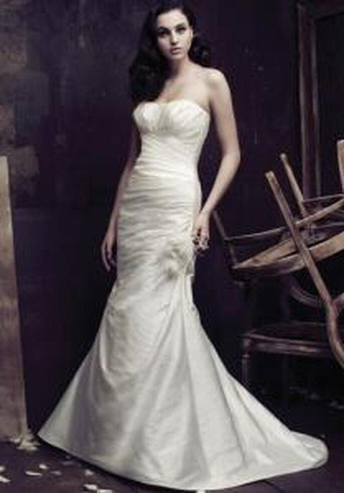 aloma Blanca 2009 -vestito lungo taglio sirena, senza spalline