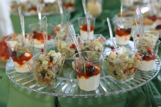 Il finger food è uno degli stili più apprezzati ai matrimoni. Foto New Image Officina d'Immagine