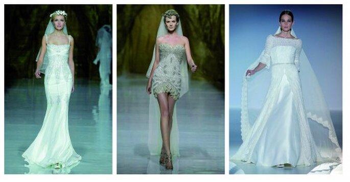 Kleider aus der Kollektion von 2014. Fotos: Pronovias, Francis Montesinos