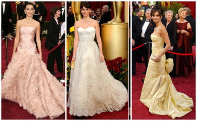 Penélope Cruz suele vestirse 'de novia' para los Oscars