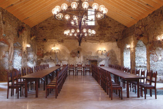 Rittersaal der Burg Aggstein - Foto:www.ruineaggstein.at