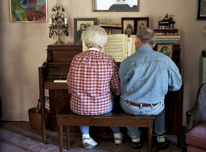 Fran y Betty se conocieron en 1939. Siguen juntos desde entonces. Foto. Lauren Fleishman.