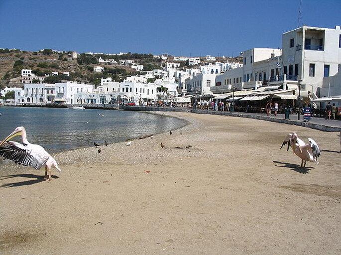 Spiaggia di Mykonos. Foto: wikimedia.org - Binabik155