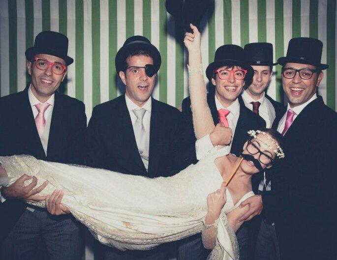 Un photocall para divertirse en la boda. Foto: