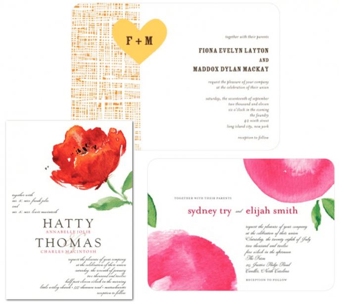 Invitaciones de boda coloridas y en tendencia para primavera 2013 - Foto Wedding Paper Divas