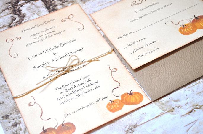 invitaciones de boda con estilo en halloween