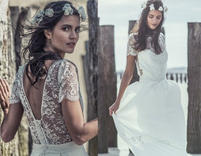 Robe de mariée Laure de Sagazan - Espace Maria Luisa Mariage du Printemps Haussmann
