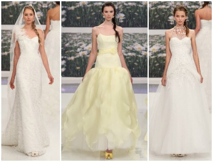 Tre stili diversi per accontentare tutti i generi di sposa. Emé di Emé Collezione 2013. Foto: www.emedieme.it