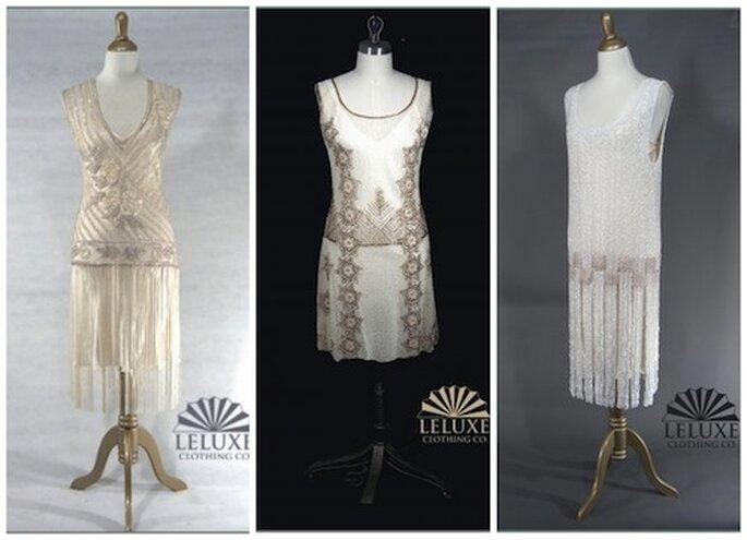 Da sinistra: abito Tango in argento, abito Park Avenue e abito The Duchess ©LeLuxe