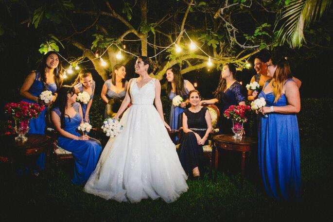 Vestido de fiesta para matrimonio de noche