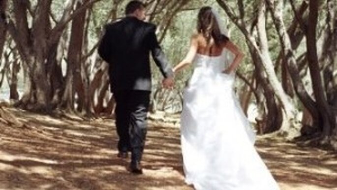 A wedding at one with nature