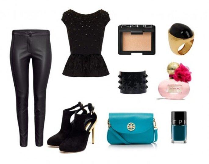 Look girls night out - Fotos: top de Alice + Olivia, pantalones de H&M, zapatos de Rupert Sanders, bolso de Tory Burch, cuff de Valentino Caravani, anillo de Fendi, perfume de Coach Poppy, esmalte de Sephora e iluminados de Nars